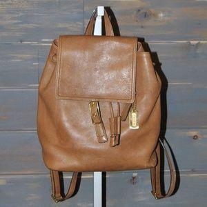 Coach Tan Leather Back Pack Handbag